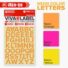 Inkviva Neon Iron On Letters Heat Transfer Alphabet Name Appliqué Label -12mm