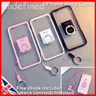 Lanyard Apple iPhone Case Ring Stand Finger Grip Holder Clear Back Strap Cover