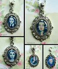 MORTICIA WEDNESDAY ADDAMS LILY MUNSTER NECKLACE PENDANT OR CLIP ON CHARM