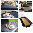 2x BBQ GRILL MAT,NON-STICK SURFACE,Hot Plate Mat,Easy Grilling,PORTABLE BBQ Mat,