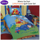 Disney Licensed Winnie The Pooh Friends Quilt Duvet Cover Set - SINGLE DOUBLE