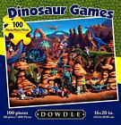 NEW 100 PIECE JIGSAW PUZZLE DINOSAUR GAMES EXTRA LARGE PCS SEALED  BY ERIC DOWDL