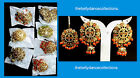 Choose Any Pearl Rhinestone Bollywood 3pcs Hook Punjabi Jhumka Earring-Tikka Set