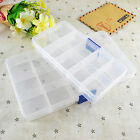 Clear Plastic 2 Styles Beads Jewellery Storage Organiser Compartment Box Case