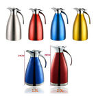 Double Vacuum Insulation Coffee Pot Thermos Cold Water Stainless Bottle 1.5L/2L