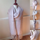 Women's Soft Extra Long Winter Scarf BOHO Knit Luxurious Shawl Fringe Oversize