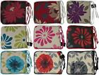 NEW FLORAL PLAIN DINING CHAIR ZIP REMOVABLE CUSHION SEAT PAD TIES FOAM FILL