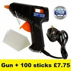 Glue Gun Hot Melt ElectricTrigger DIY Adhesive Crafts 100 FREE GLUE STICKS UK