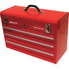 Homak 20 in. 3 Drawer Friction Toolbox (Red) RD00203200 new