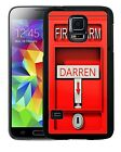 PERSONALIZED RUBBER CASE FOR SAMSUNG NOTE 3 4 5 7 FIRE ALARM RED