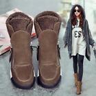 Womens Hidden wedge heel Snow new Faux Fur Warm lined Casual Ankle Boots shoes
