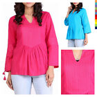 Women's Indian Western Casual Party wear Cotton Pintuck top