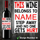 5 PERSONALISED FUNNY WINE BOTTLE LABEL BIRTHDAY CHRISTMAS GIFT