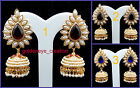 Choose Any Color Off-White Pearl Gold Polish Bollywood Ashiqui2 Jhumka Earring-1