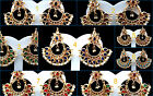 White Pearl CzKundan Golden Polish Bollywood Chandbali Earring-8-Dwali Christmas