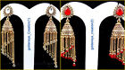 Choose Any Color Rhinestone Gold Tone Bollywood Hanging Jhumka Earring-7-Diwali