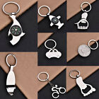 8 Style Silver Retro Mini Alloy Polished Keychain Foot Palm Compass Keyring Gift