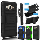 For Samsung Galaxy On5 Shockproof Hybrid Rubber Belt Clip Holster Case Cover