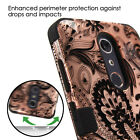 For ZTE Phone Case TUFF Hybrid Armor Impact Rugged Silicone Protector Hard Cover <br/> Zmax Pro Kirk Max Duo Imperial Max Grand X Max 2 +Strap