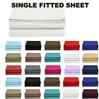 1500 Thread Count Single Fitted Sheet Top Sheet Available in 12 Colors All Sizes image