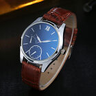 Luxury Men's Faux Leather Quartz Analog Watch Business Wrist Watch Gift Natural