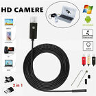 New 2/5/10M 7mm Android Phone PC Endoscope Waterproof Borescope HD 6-LED Camera