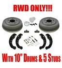 "Rear 10"" 5 Studs Brake Drum with Brake Bleeding Kit C1500 Tahoe Yukon RWD"