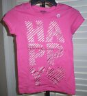 OLD NAVY Girls Shirt Size M 8 HAPPY Short Sleeve Cotton Tee Pink NEW