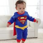 superman Suit Fancy Dress SuperHero Costume for Baby Toddler Kid Boy Romper OK