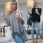 Women Oversized Loose Long Sleeve Shirt Ladies Baggy Tops Blouse Batwing Jumpers