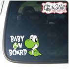 """Baby Yoshi """"BABY ON BOARD"""" Sign Vinyl Car / Truck Decal Stic"""