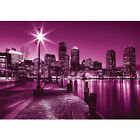 "Vlies Fototapete ""no. 857"" ! New York Tapete Laterne Nacht Skyline Lichter Fluss"