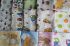 3, 5  or 10  Set of muslins 70x 80cm for boy or girl  RANDOM