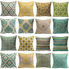 Vintage Geometric Flower Cotton Linen Throw Pillow Case Cushion Home Decor Art