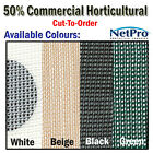 4m 50% Shade Cloth Horticultural Grade 170gsm - Cut To Order - POSTED