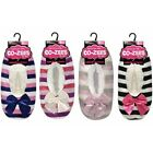 Ladies Luxury Stripe Sherpa Fleece Lined Slippers