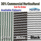 2m wide 30% Shade Cloth Horticultural Grade 90gsm - Cut To Order - POSTED