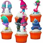24 x TROLLS FILM STAND UP TROLL Precut Edible Wafer Cupcake Toppers