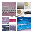 Picot Lace Elastic Solid Colours by the Metre - Headbands Hair Ties Sewing Craft