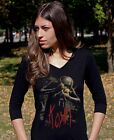 KORN voodoo doll Lady 3/4 Long Sleeve T-shirt Woman Rock Band Tee