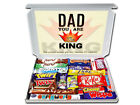 KING DAD Personalised Chocolate or Retro Sweets Gift Hamper Present for Daddy