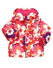 GYMBOREE STAR OF THE SHOW FLOWER PRINTED HOODED PUFFER SKI JACKET 5 6 NWT