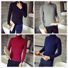 2017 Men turtleneck pullover Solid color Knitted Sweater knitwear cardigan Gift
