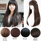 "Womens Fashion 26"" Slight Curly Wave Long Hair Full Wigs Wig Cap Cosplay Party"