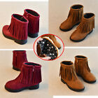 Fashion Kids Girls Winter Snow Ankle Boots Warm Fur Casual Non-slip flat shoes