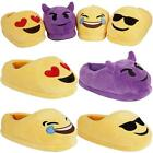 Ladies Emoji Plush Stuffed Slippers Womens Girls Winter Thermal Warm Shoes Boots