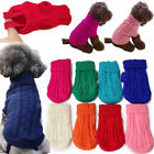 Popular Pet Dog Cat Knitted Jumper Winter Sweater Puppy Warm Coat Jacket Clothes