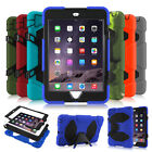 Shockproof Heavy Duty Rubber With Hard Stand Case Cover Fr iPad 2/3/4 mini 1/2/3