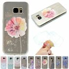 Clear Rubber Soft TPU Silicone Slim Pattern Back Cover Case For Samsung Note5 S5