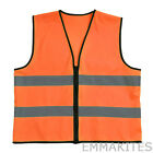 High Visibility Reflective Vest Zipper Jacket 3 Sizes for Industrial Working